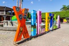 街市Xilitla,圣路易斯波托西州-墨西哥 图库摄影