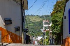 街市Xilitla,圣路易斯波托西州-墨西哥 免版税库存图片