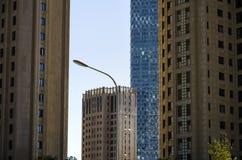 街灯和建筑学 免版税库存照片