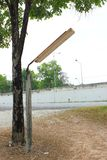 街灯在乡区 免版税库存照片