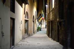 狭窄的中世纪胡同 库存图片
