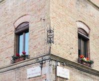 街角在意大利 免版税库存图片