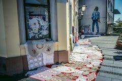 街边小贩在贝尔格莱德 免版税库存照片