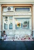 街边小贩在贝尔格莱德 免版税库存图片