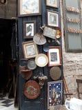 街道义卖市场 库存照片