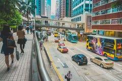 街道交通在香港 免版税图库摄影