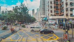 街道交通在香港 免版税库存图片