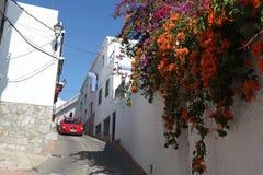 街道典型在白色镇 西班牙 库存照片