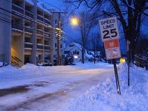 街道冬天 免版税库存照片