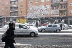 街道冬天 库存照片