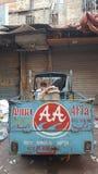 街道出售商在卡拉奇 库存图片