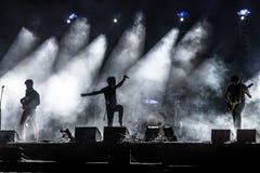 街道剧院在集市广场的节日音乐会在克拉科夫 库存照片