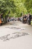街道剧院第31个ULICA国际节日,克拉科夫, Po 免版税库存照片