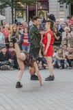 街道剧院节日在克拉科夫 免版税库存图片