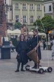 街道剧院节日在克拉科夫 库存图片