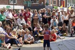 街道剧院节日在杜廷赫姆, 7月1日的荷兰 库存图片