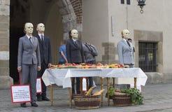 街道剧院ULICA国际节日在Cracow_Opening 免版税库存图片