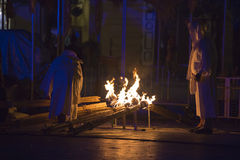 街道剧院ULICA国际节日在Cracow_Xarxa剧院 免版税库存照片
