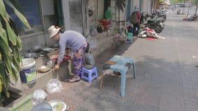 街道厨师在胡志明 影视素材
