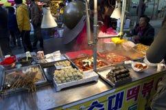 街道吃釜山韩国 库存照片