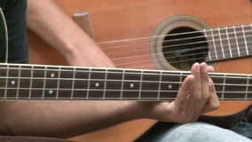 街道吉他弹奏者 股票视频