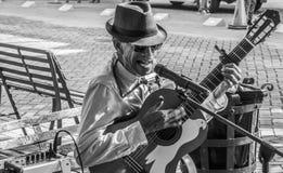 街道吉他弹奏者 库存图片