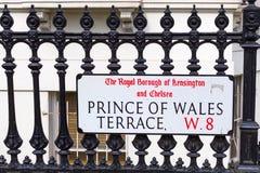 街道名字签到伦敦,英国 免版税库存图片