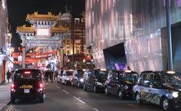 街道向伦敦唐人街伦敦英国 库存照片