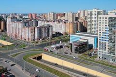 街道和城市两层的横穿  喀山俄国 库存图片