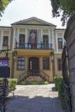 街道和19世纪议院建筑和历史储备的老镇cit的 库存照片