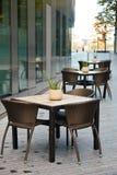 街道咖啡馆在伦敦 图库摄影