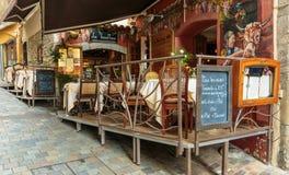 街道咖啡馆在戛纳 库存照片