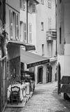 街道咖啡馆在戛纳 图库摄影