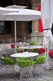 街道咖啡馆在维也纳,奥地利 库存照片