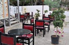 街道咖啡馆在Hammamed,突尼斯 减速火箭的样式 库存图片