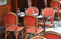 街道咖啡馆 免版税图库摄影