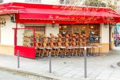 巴黎 街道咖啡馆 免版税库存照片