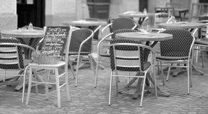 街道咖啡馆 库存图片
