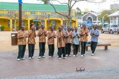 街道唱歌的小组开普敦南非 免版税库存图片
