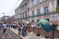 街道商店无家可归的节目在马瑙斯,巴西 库存图片