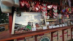 街道圣诞节商店 股票视频