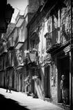 街道在一个小镇在西西里岛 免版税库存照片