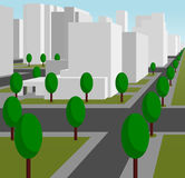 街道在一个现代城市 图库摄影