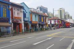 街道在一点印度在新加坡 免版税库存照片