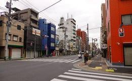 街道在东京,日本 免版税库存图片
