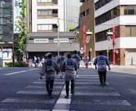 街道在东京,日本 图库摄影