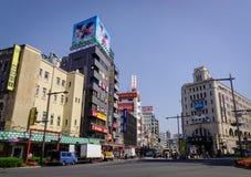街道在东京,日本 库存图片