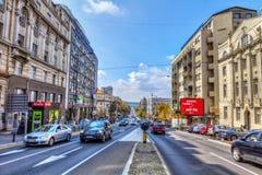 街道在中心 免版税图库摄影