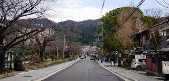 街道在京都,日本 免版税库存照片