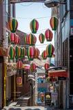 街道在伊斯坦布尔,土耳其 库存图片